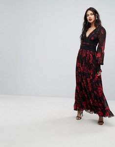 Read more about Forever new column maxi dress in rose print - dark base floral