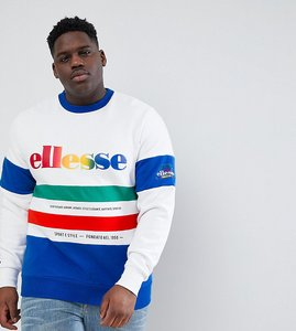 Read more about Ellesse plus colour block panelled sweatshirt in white - white