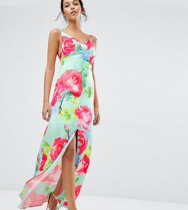 Read more about Every cloud rose print strappy maxi dress - multi print