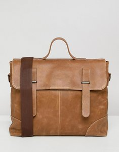 6c93743822 Read more about Asos design satchel in leather in tan and double straps -  tan