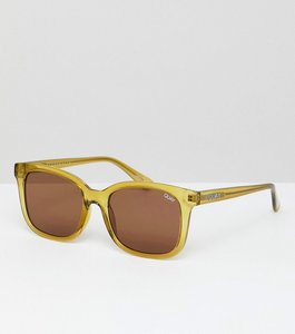 Read more about Quay australia kingsley square frame sunglasses - olv brn