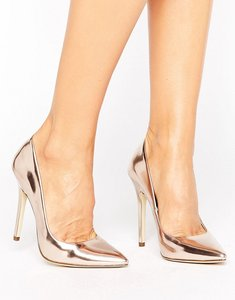 Read more about London rebel full point high heels - rose gold