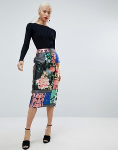 Read more about Asos pencil skirt in delicate floral print - multi