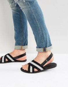 Read more about Asos sandals in leather with nylon straps - black