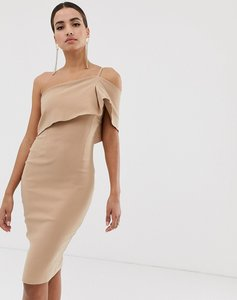 Read more about Vesper one shoulder bodycon dress in taupe