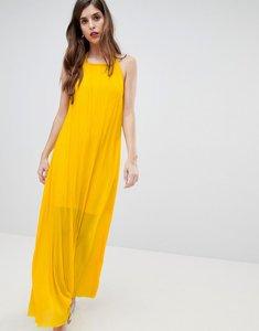 Read more about French connection plisse halter maxi dress - citrus