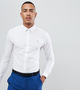 Read more about Farah swinton skinny smart poplin shirt with stretch in white - white