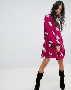 Read more about Free people emma floral print dress - purple combo