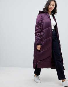 Read more about Asos longline puffer coat - purple