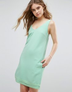 Read more about Traffic people v neck shift dress - green