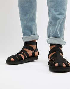 Read more about Asos design gladiator tech sandals in black - black