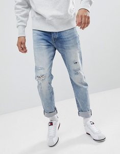 Read more about Tommy hilfiger denim slater jeans slim fit distressed tartan repair mid wash - intadeco