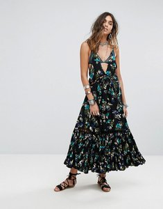 Read more about Free people pages of gold maxi dress - black combo