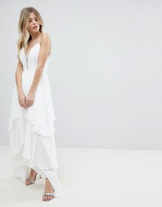 Read more about Y a s floaty tiered maxi dress - white