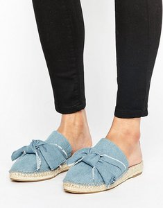 Read more about Kg by kurt keiger niamh denim knot espadrille mules - blue denim