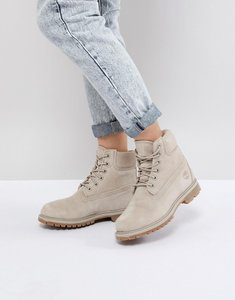 Read more about Timberland 6 inch premium taupe suede flat boots - simly taupe