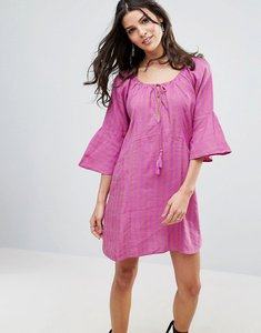 Read more about Free people fol town linen dress - purple combo