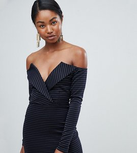 Read more about Missguided bardot tux mini dress - navy