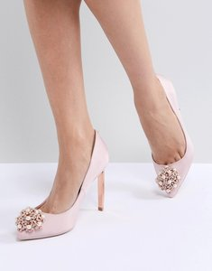 Read more about Ted baker peetch light pink embellished shoes - light pink
