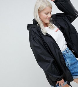 Read more about Asos design curve rain jacket with bum bag - black