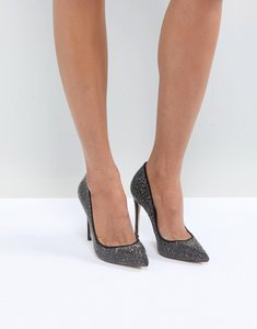 Read more about Aldo nirema crystal stud pointed shoe - black