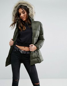 Read more about G-star whistler padded jacket with faux fur hood - green
