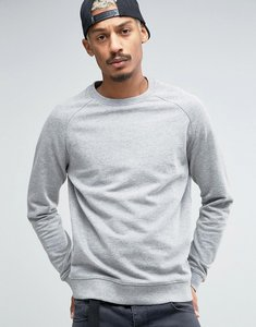 Read more about Asos sweatshirt in grey marl - grey marl