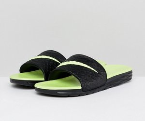 Read more about Nike benassi solarsoft sliders in black 705474-070 - black