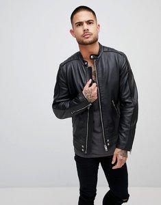 Read more about Diesel l-quad leather biker jacket - black 900