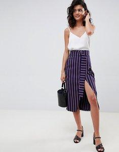 Read more about Asos design tailored wrap midi skirt in stripe - stripe