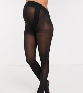 Read more about Asos maternity 2 pack 50 denier tights in new improved fit - black