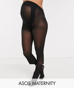 Read more about Asos design maternity 2 pack 50 denier tights in new improved fit - black