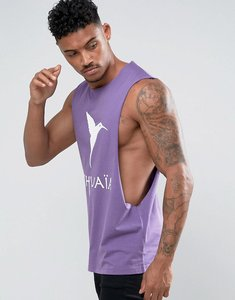 Read more about Asos ushuaia ibiza sleeveless t-shirt with extreme dropped armhole - purple