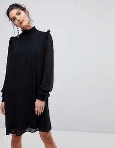 Read more about Y a s chiffon high neck dress - black