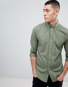 Read more about Polo ralph lauren slim fit garment dyed shirt polo player in green - mountain green