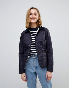 Read more about Barbour liddesdale quilted jacket with cord collar - navy