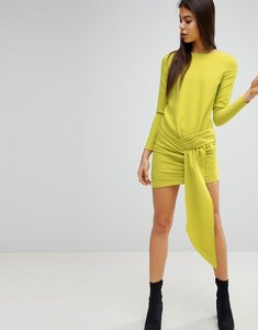Read more about Missguided twist front mini dress - lime