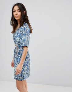 Read more about Vero moda printed dress with belt - multi
