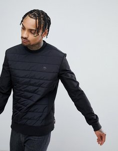 Read more about Timberland quilted crew neck sweatshirt in black - black