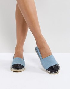 Read more about Truffle collection toe cap espadrille - denim