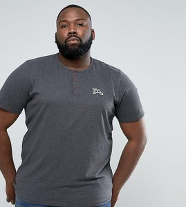 Read more about Tokyo laundry plus henley marl t-shirt - grey