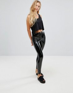 Read more about Parisian vinyl skinny trousers - black