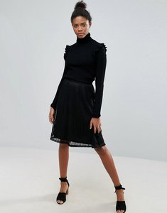 Read more about Vila pleated skirt - black