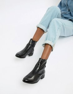 Read more about Office ashleigh black leather calf croc boots - black leather