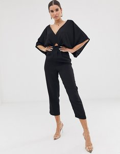 Read more about Asos design jumpsuit with kimono sleeve and peg leg - black