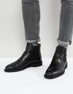 Read more about Selected homme leather chelsea boots - black