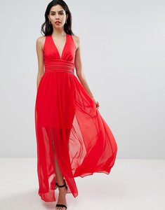 Read more about French connection halterneck maxi dress - shanghai red