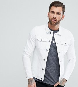 Read more about Liquor n poker muscle fit stretch denim jacket - white