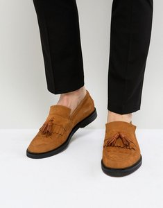 Read more about House of hounds dexie suede tassel loafers - tan