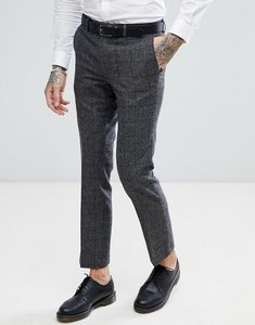 Read more about Harry brown grey check slim fit wool blend suit trousers - grey
